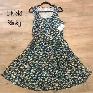Lularoe Large Nicki Tank Dress with Pockets NWT
